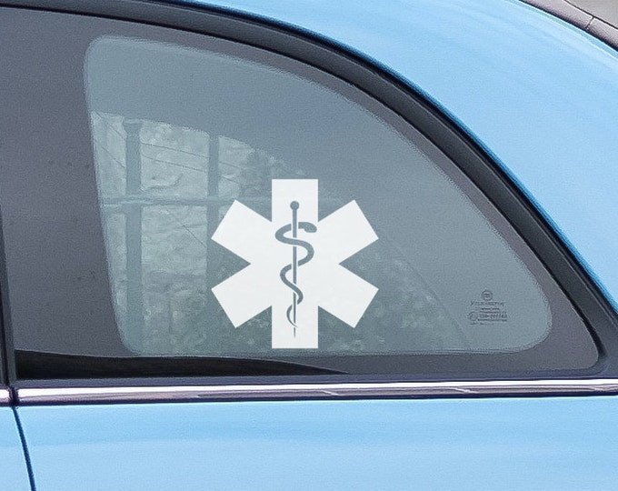 Healthcare set of decals - Several types to choose from - Heartbeat, Caduceus, Rod of Asclepius, Bandage Cross - Nurse, Doctor, Symbols