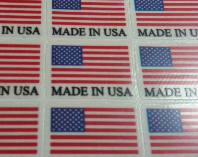 Made in USA / France / Canada / Deutschland / UK  translucent decal sticker - Clear polyolefin film sticker, 100 units per sheet
