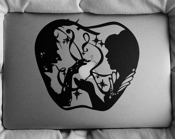 The witch and the princess Decal Sticker, Laptop Macbook, mac, Snow White tale inspired, macbook cover decal, Macbook Decal Sticker