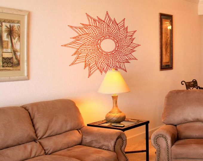 Hand drawn SUN decal - Wall decals for magical minds, Many colors and Sizes available, Mystic collection