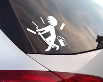 No Fuel - Funny Vinyl Sticker, Gas Hogg, Empty Tank, Refuel, JDM Drift, Car Sticker, Decal, Fun, Funny Sticker, Car decals, Epic, Brutal