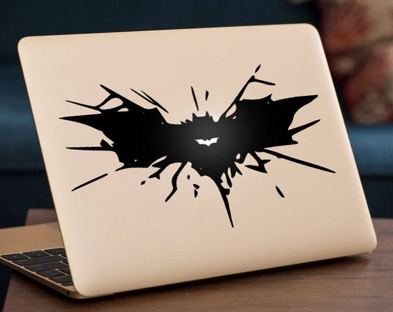 Bat Splat Decal, Batman Style Tribute decal, Size can be customized for fit on particular target, mac, Macbook Decal Sticker