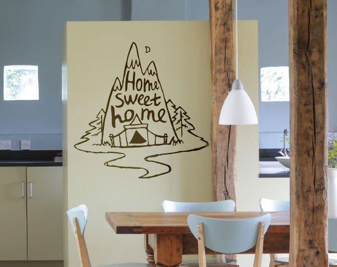 Home Sweet Home - Vinyl decal / sticker for walls / home design, Magical Minds Collection