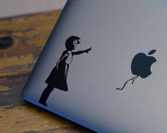 The girl who lost a balloon - Decal Sticker, Graffiti, Street art, London, Girl and Balloon, mac, Macbook Decal Sticker