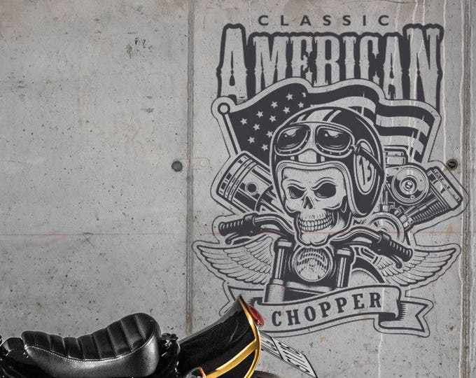 Classic American Chopper - Die Cut Vinyl Sticker / Wall Decal, Motorcycle Collection, Motorsports, Bikers, Motoclub, Riders, Freedom Rush