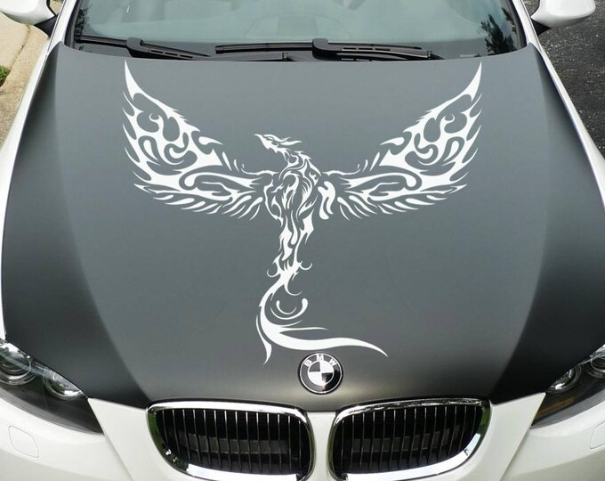 Rising Phoenix - Die Cut Vinyl Decal Sticker for cars, laptops, windows and walls, JDM DRIFT, Car Sticker, Decal, Phenix Fenix Phoenix