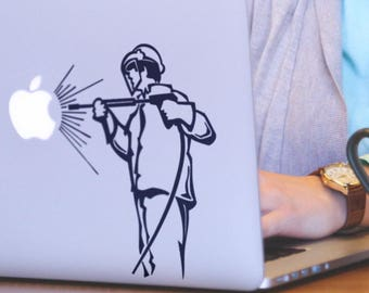 Apple Cleaner Decal Sticker, Cleaning, Power Tools, Water pressure washer, Under pressure, pressure washing, Macbook Decal Sticker