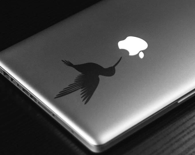 Hummingbird Decal Sticker, Laptop, Macbook, Mac, Bird, Adorable little bird decal, apple, decals, skins, Macbook Decal Sticker
