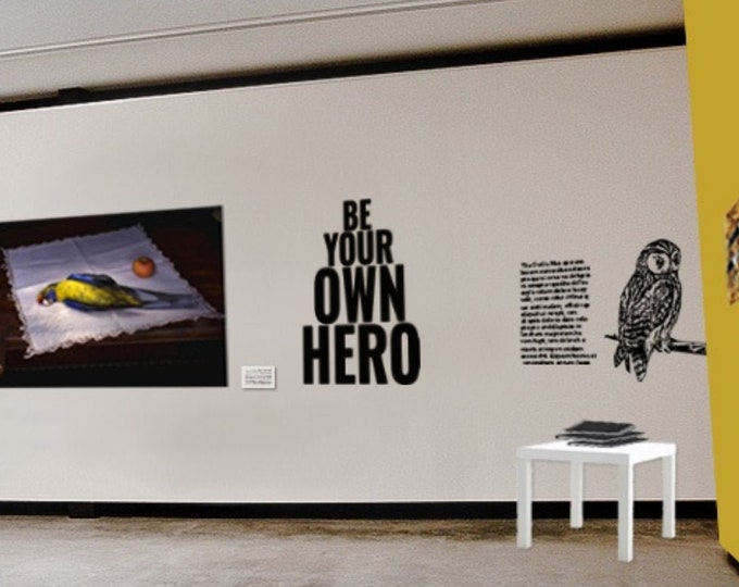 Be your own hero, Wall Decal / Stickers, Motivational Vinyl Poster collection for wall decor