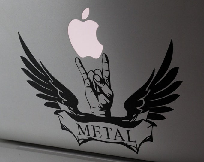 Macbook Decal - Metal Lover - Sticker for Apple Macbooks or other Laptops, mac, Heavy metal, Rock Hard, Rock on, Hardcore Metal, Metal Music