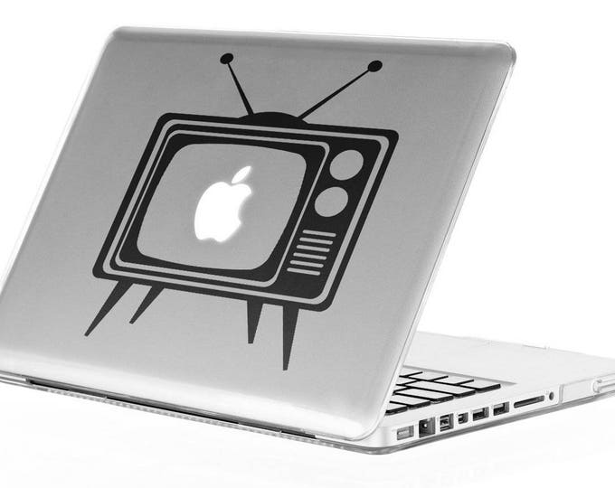 Apple TV Decal Sticker, Macbook TV Decal, AppleTV Vinyl stickers, Vintage Skins, Retro, mac, Macbook Decal Sticker