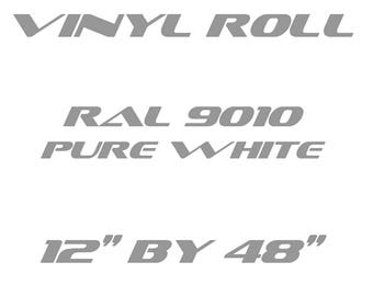 Pure White - RAL 9010 - Matte Vinyl Roll - 3 Year Durability Indoors or Outdoors - 120 Microns