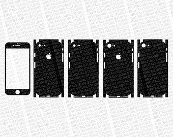 Iphone 7 - Skin Cut Template  - Templates for cutting or machining - Digital Download - Plotter, CNC, Laser Cutter - SVG - Full Wrap
