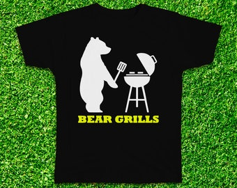 Bear Grills funny Tshirt with multiple variations, barbecue, discovery, unisex tee, male tee, female tee, bear tshirt