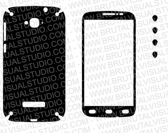 Alcatel POP C7 - 7041X - Skin Template - Includes front and Back - Plotters, CNCs, Laser cutters, Silhouette Cameo, Cricut, Vinyl skin File