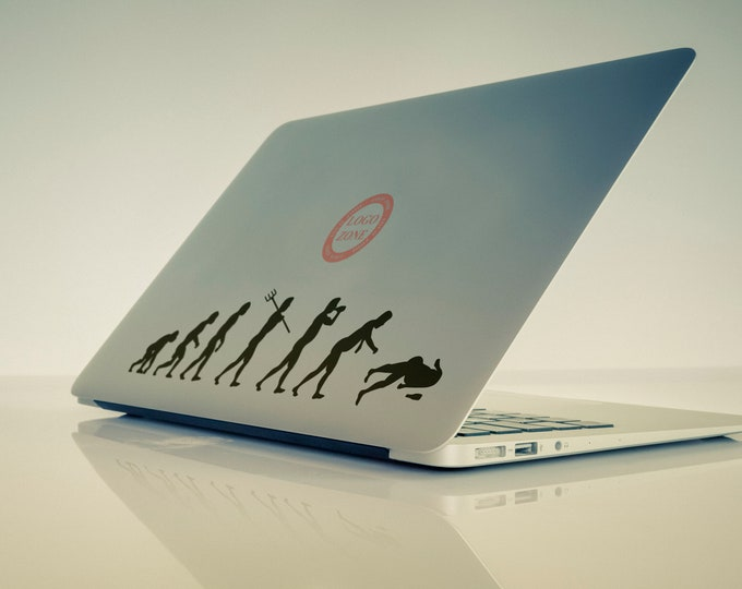 2 units of Man Evolution in according to beer Decal Sticker for Macbooks and Laptops, Macbook, Laptop, Drunk, Alcohol, Drinking, Party Time