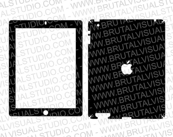 Apple iPad Gen 2 - WIFI Only A1395 - Skin Cut file - Templates for cutting & machining - Digital Download - Plotter, CNC, Laser Cutter - SVG