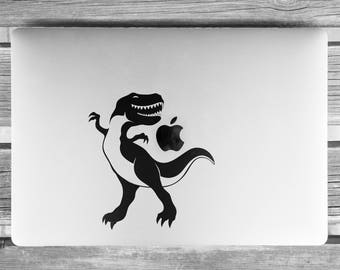 T REX the Jurassic Dancer Dinosaur  Decal Sticker, Dino, TREX, TREX can dance... well he tries to!, mac, Macbook Decal Sticker