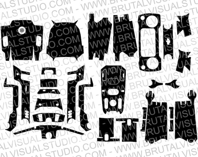 DJI Mavic 2 Pro / ZOOM - Skin templates for vinyl cutout or machining - Digital Download - Plotter, CNC, Laser Cutter - Drone Skin Cut File