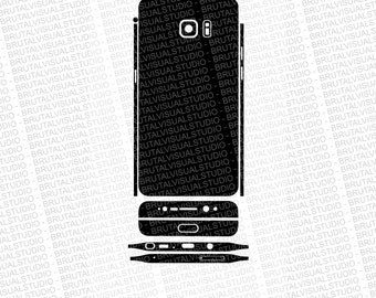Samsung Galaxy Note 7 - Skin Cut File Template - Templates for cutting or machining - Digital Download - Plotter, CNC, Lasers - Svg Cdr Ai