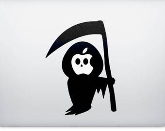 Death Grim Reaper Decal Sticker, Apple decal sticker macbook idea vinyl retina macbook pro laptops, mac, Macbook Decal Sticker