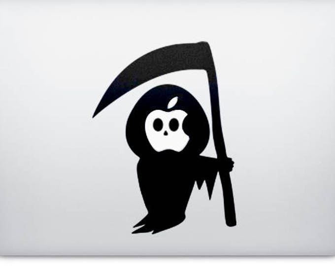 Death Grim Reaper Decal Sticker, Apple decal sticker macbook idea vinyl retina macbook pro laptops, mac, Macbook Decal Sticker