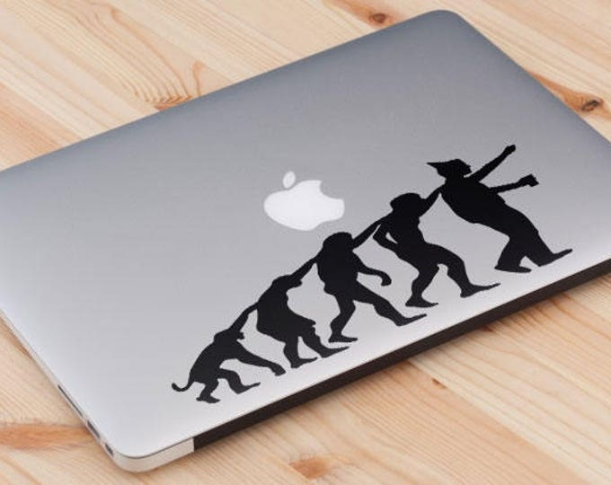 Man Evolution to Party Animal Decal Sticker, Partying Partygoer Bon Viveur Clubber Good times, mac, Macbook Decal Sticker