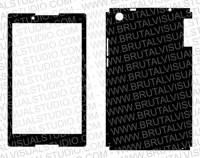Tablet Lenovo TB3-850F - Skin wrap template for cutting or machining - Plotters, CNCs, Laser cutters, Silhouette Cameo, Cricut - SVG PDF DXF