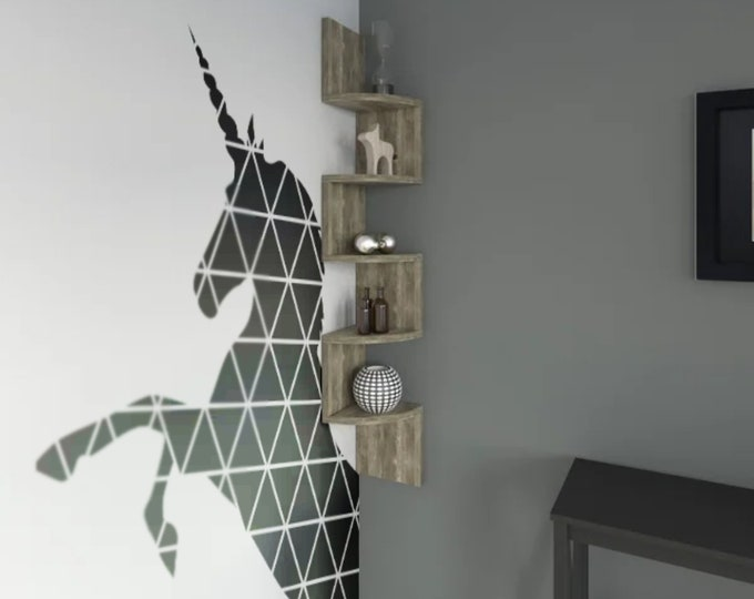 Geometric Minimalist Unicorn - Modern Style Decor - Wall decals for magical minds, Many colors and Sizes available, Mystic collection