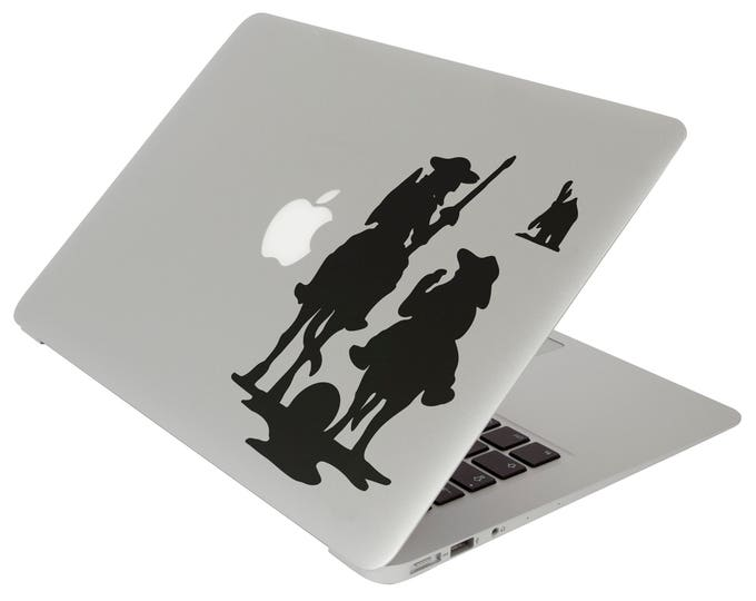 Don Quixote of La Mancha Decal Sticker for Apple Macbook, Miguel de Cervantes Saavedra Rocinante Spain alonso quixano sancho panza, V. 2.0