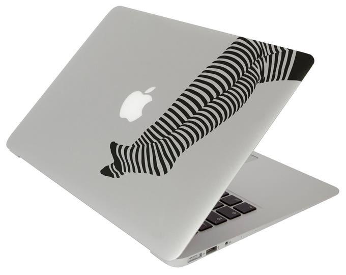 Stripped Leggings / Tights / Collants Sticker, Vinyl Sticker, Stripes Stripe Warmth Woman Women, mac, Macbook Decal Sticker