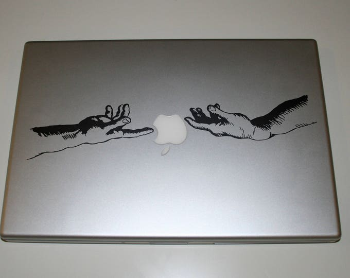 2 units of Spark of Life - Hand of God Decal Sticker, Decals stickers macbook vinyl, Michelangelo Sistine Chapel - FREE SHIPPING