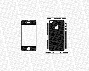 Iphone 4S - Skin Cut Template - Templates for cutting or machining - Digital Download - Plotter, CNC, Laser Cutter - SVG - Sliced Version