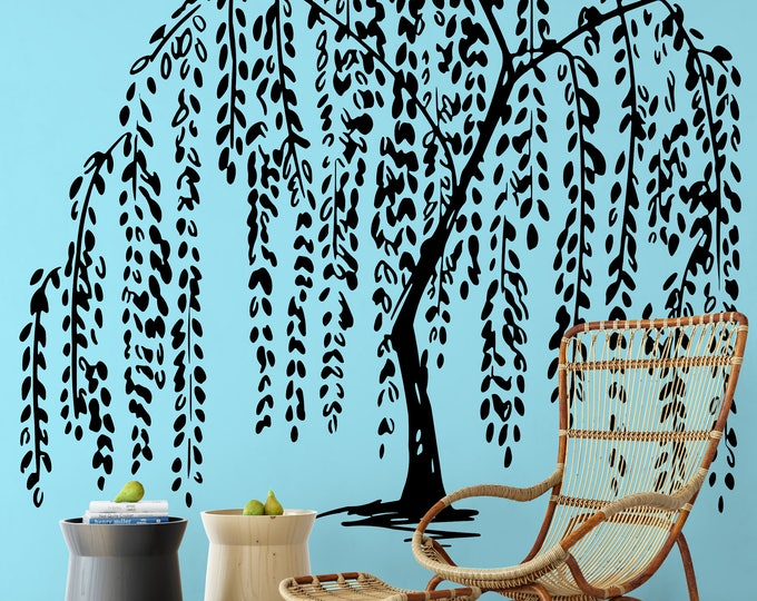 Willow Tree Wall Decal Sticker, Nature Decals, Relaxing and freshening decor for your home, ZEN Serenity Peaceful Beautiful Calming