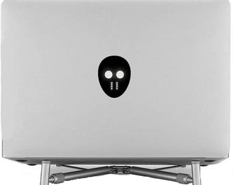 Hockey Mask Decal Sticker, Laptop Macbook Stick Ice Sport Bandy Roller Sledge Street Foot Air, mac, Macbook Decal Sticker