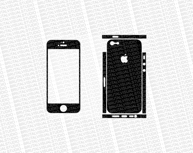 Iphone 5 - Skin Cut Template - Templates for cutting or machining - Digital Download - Plotter, CNC, Lasers - SVG - Sliced Version