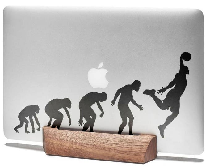 Man Evolution to BasketBall Decal Sticker  | Basket ball NBA Sports Baller Player Slam Dunk, mac, Macbook Decal Sticker
