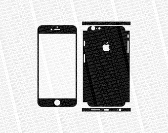 Iphone 6 Plus - Skin Cut Template  Ver.8 - Templates for cutting or machining - Digital Download - Plotter, CNC, Lasers - SVG - Partial Wrap