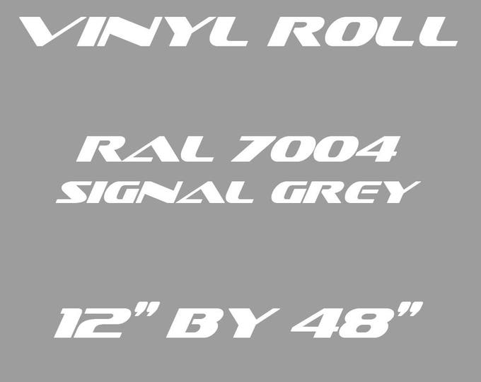 Signal Grey - RAL 7004 - Matte Vinyl Roll - 5 Year Durability Indoors or Outdoors - 75 Microns