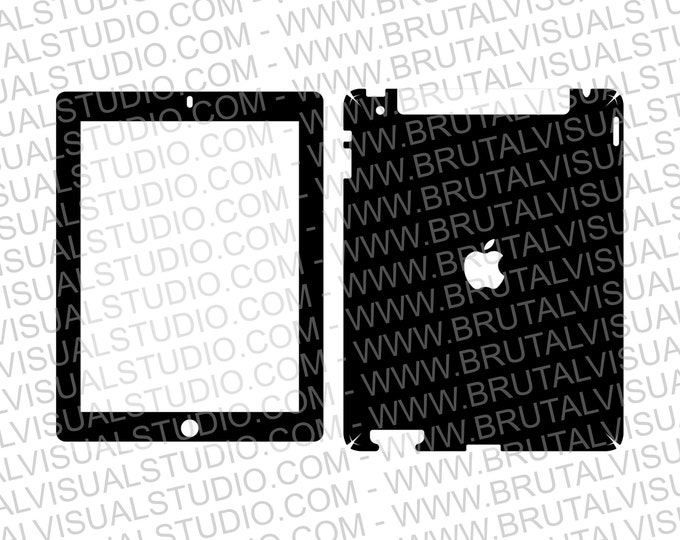 Apple iPad Gen 2 - With SIM Card - Skin Cut file - Templates for cutting or machining - Digital Download - Plotter, CNC, Laser Cutter - SVG