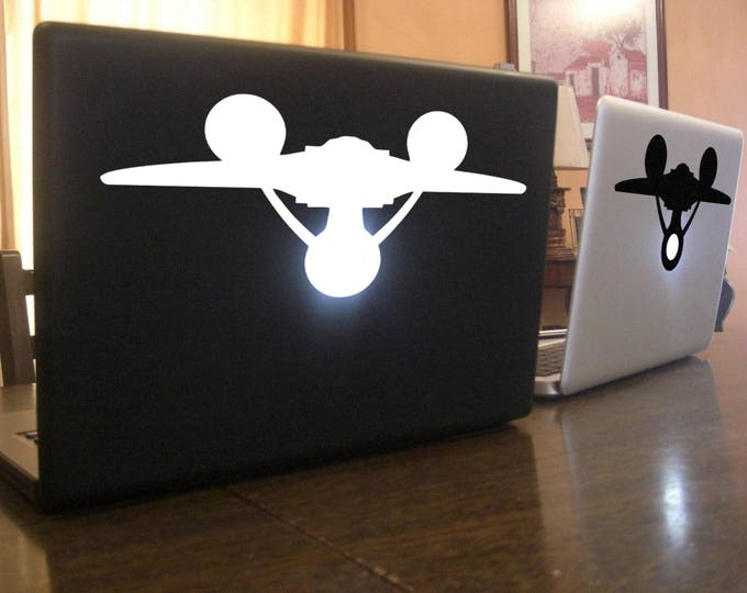 Spaceship Decal Sticker, Epic, Macbook, mac, Laptop, Trek, Stars, Cosmos, Space, Enterprise, Trekkie, star, Macbook Decal Sticker