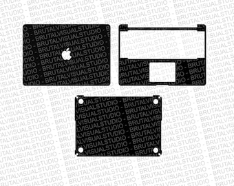 Macbook Pro 15 Retina Skin template for cutting or machining - Digital Download, Plotters, CNCs, Laser cutters, Cameo, Cricut | 11 Formats