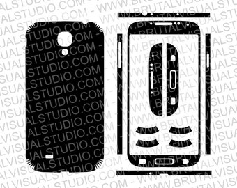 Samsung Galaxy S4 - Skin Cut Template for cutting or machining - Digital Download - Plotter, CNC, Laser Cutter - svg, eps, pdf, dwg, dxf