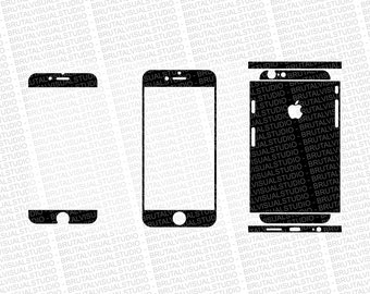 Iphone 6S - Skin Cut Template  Ver.2 - Templates for cutting or machining - Digital Download - Plotter, CNC, Lasers - SVG - Partial Cuts