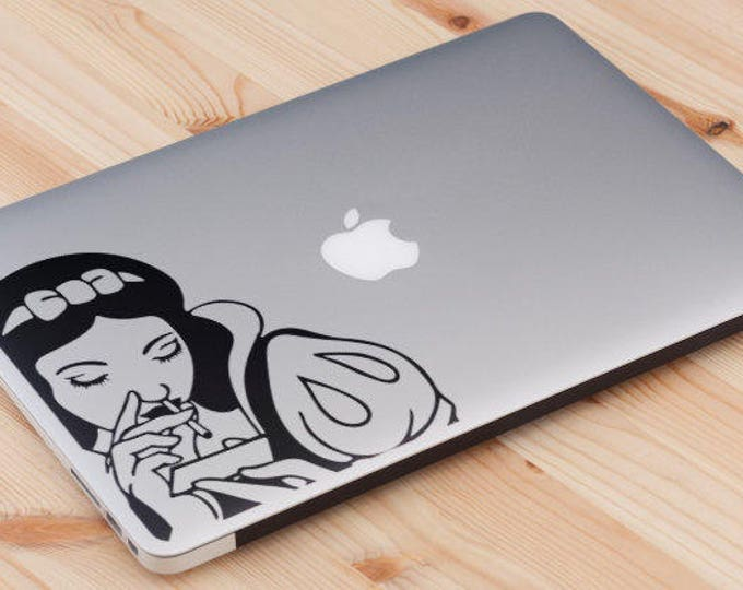 The Snow Sniffer Decal Sticker, Laptop Macbook, Conspiracy Decal Decal, mac, Macbook Decal Sticker