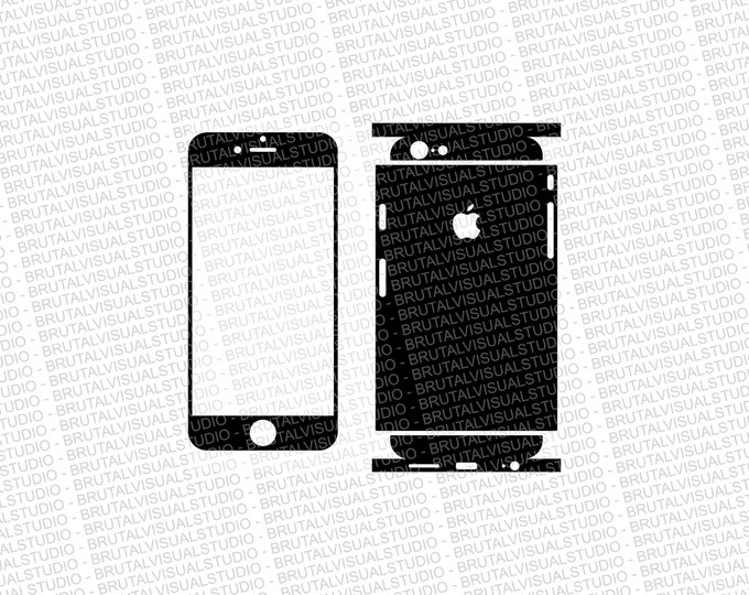 Iphone 6 - Skin Cut Template  Ver.6 - Templates for cutting or machining - Digital Download - Plotter, CNC, Lasers - SVG - Partial Wrap