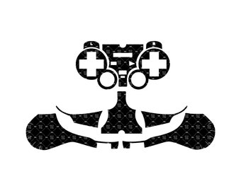 Plotters CNCs Sony PlayStation 2 SingStar Microphone Skin wrap template for cutting or machining Silhouette Cameo Laser cutters Cricut