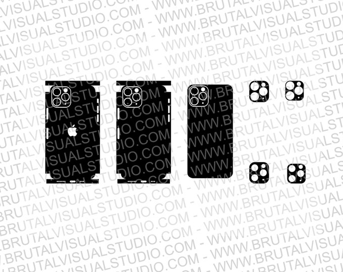 Iphone 11 Pro - Skin Cutout Template  - Templates for cutting or machining - Digital Download - Plotter, CNC, Laser Cutter - SVG - Full Wrap
