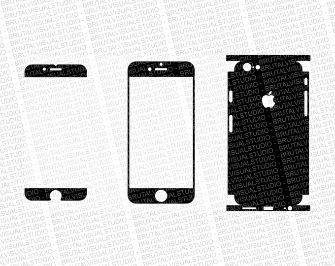 Iphone 6S - Skin Cut Template  Ver.1 - Templates for cutting or machining - Digital Download - Plotter, CNC, Laser Cutter - SVG - Full Wrap