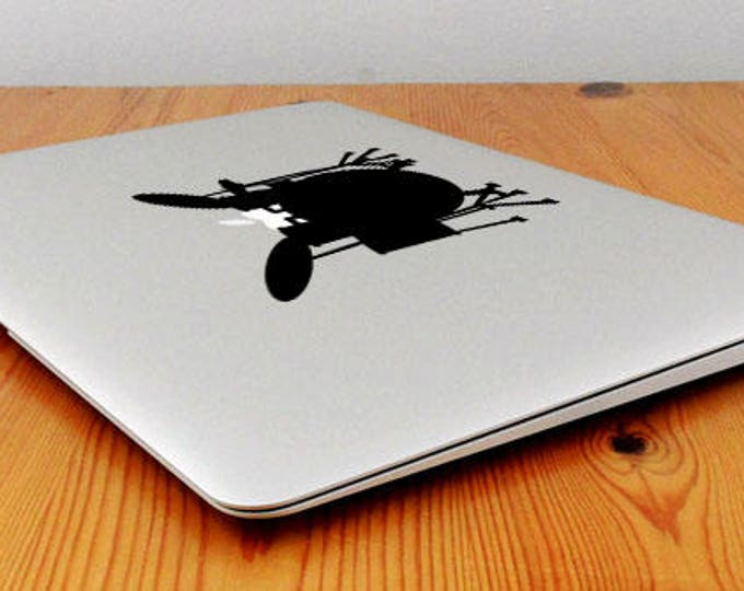 Drum Player Decal Sticker, Decals stickers for macbooks in vinyl, Drummer Music Artist Drums Trap, mac, Macbook Decal Sticker